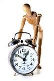Maniquí y reloj Foto de archivo
