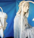 Maniquíes vestidos en Christma Imagenes de archivo