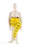 Maniquí con la cinta de medición Foto de archivo libre de regalías