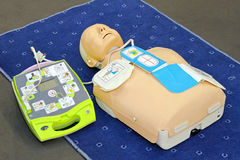 Maniquí del AED Fotos de archivo