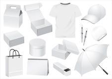 Maniquí del empaquetado y del recuerdo del vector Fotos de archivo libres de regalías