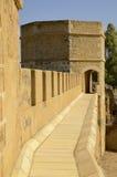 Manière sur le dessus du château d'Alcala Images libres de droits