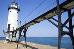 Manistee North Pierhead Lighthouse Stock Images