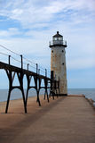 Manistee Pier Lighthouse on Lake Michigan Stock Image