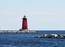 Manistique East Breakwater Lighthouse Stock Photography