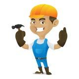Manitas Holding Hammer stock de ilustración