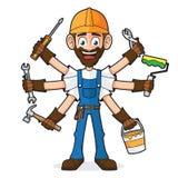 Manitas Holding Tools stock de ilustración