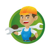 Manitas Holding Wrench libre illustration