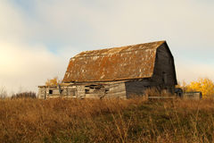A Manitoba barn. An old barn south of the town of Birtle Manitoba, Canada.  Taken the weekend of Canadian Thanksgiving Stock Photos