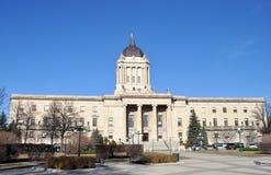 Manitoba lagstiftnings- byggnad arkivfoton