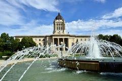 Manitoba lagstiftnings- byggnad Royaltyfri Foto