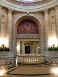 Manitoba lagstiftnings- byggnad i Winnipeg fotografering för bildbyråer