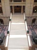 Manitoba lagstiftnings- byggnad i Winnipeg arkivfoto