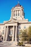 Manitoba lagstiftnings- byggnad i Winnipeg Royaltyfria Bilder