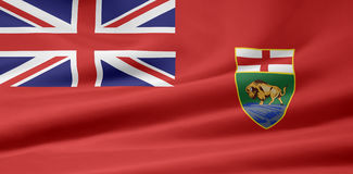 Manitoba-Markierungsfahne Lizenzfreie Stockbilder