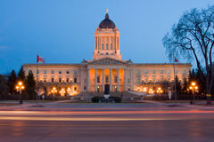 Manitoba Prawodawczy budynek Obraz Royalty Free