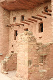 Manitou Cliff Dwellings. The Manitou Cliff Dwellings are a rare historical treasure. Preserved under a protective red sandstone overhang, authentic Anasazi cliff Stock Photo