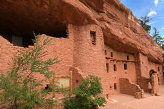 Manitou Cliff Dwellings. Outside view of Manitou Cliff Dwellings near Colorado Springs Stock Image