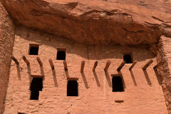 Manitou Cliff Dwellings. Windows at Manitou Cliff Dwellings near Colorado Springs Stock Photo