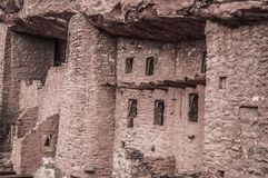 Manitou Colorado Cliff Dwellings. Located just outside of Colorado Springs / Manitou Springs. Ancient Native American Indian Cliff Dwellings in the Southwest Royalty Free Stock Image