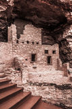 Manitou Colorado Cliff Dwellings. Located just outside of Colorado Springs / Manitou Springs. Ancient Native American Indian Cliff Dwellings in the Southwest Stock Images