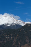 Manitou Incline and Pikes Peak. The Manitou Incline with Pikes Peak in the background Royalty Free Stock Images