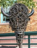 Buffalo Head sculpture in Manitou Springs Stock Photography