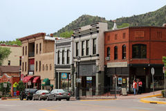 Manitou Springs, Colorado. Manitou Springs is located in El Paso County, Colorado. The town was founded for its scenic setting at the base of Pikes Peak and Royalty Free Stock Photography