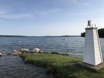 Manitoulin在湖的海岛日出 免版税库存图片