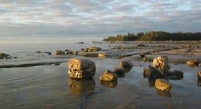 manitoulin залива утесистое стоковая фотография rf
