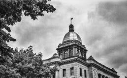 Manitowoc County domstolsbyggnad, skott och svartvit film arkivbilder