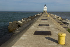 Manitowoc Pier Lighthouse Royalty Free Stock Image