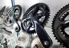 Manivela da bicicleta e gaveta traseira foto de stock