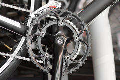Manivela dianteira para a bicicleta da estrada foto de stock royalty free