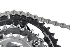 Manivela e corrente da bicicleta Fotos de Stock Royalty Free
