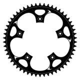 Manivelle de noir de bicyclette de vecteur Image libre de droits