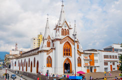 Manizales city in Colombia. MANIZALES, COLOMBIA - FEBRUARY 23, 2015: Beautiful church in Manizales, colombian coffee zone stock photos