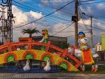 Manizales colombia some christmas decoration in december. Manizales colombia december some christmas decoration at Park Recinto del Pensamiento Royalty Free Stock Photo