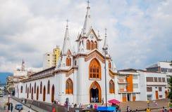Manizales stad i Colombia arkivfoton