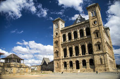 Manjakamiadana Rova (slotten för drottning s) Arkivfoto