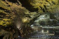 Manjanggul cave in jeju island Stock Photo