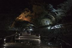 Manjanggul Lava Tube Cave fotografia de stock royalty free