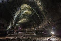 Manjanggul Lava Tube Cave fotos de archivo