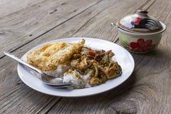 Manjericão coberta com arroz Foto de Stock