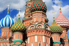 Manjericões catedral de Saint, Moscou, Rússia foto de stock