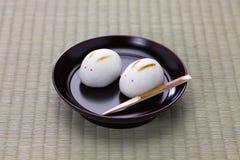 Manju do coelho, doce japonês Imagens de Stock