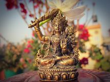 Goddess Manjushri Royalty Free Stock Photography