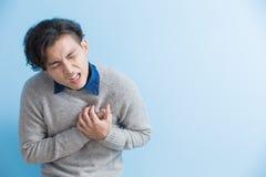 Mankänselhjärta smärtar arkivfoton