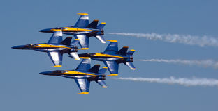 Free Mankato, Mn- June 9 US Navy Blue Angels In F-18 Air Show Stock Photos - 37036253