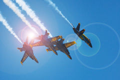 Mankato, Mn- June 9 US Navy Blue Angels in F-18 Air Show Royalty Free Stock Photos